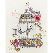 Buy Love Birds Cross Stitch Kit Online at johnlewis.com