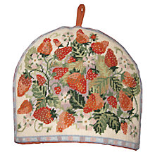 Buy Sew Trade Strawberry Tea Cosy Tapestry Kit Online at johnlewis.com