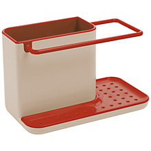 Buy Joseph Joseph Sink Caddy, Red / Grey Online at johnlewis.com