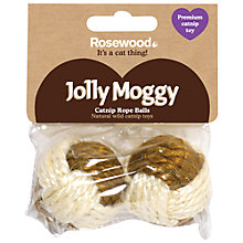 Buy Rosewood Jolly Moggy Sisal Ball Cat Toys, Pack of 2 Online at johnlewis.com
