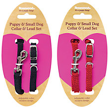 Buy Rosewood Soft Weave Puppy Collar, Assorted Colours Online at johnlewis.com