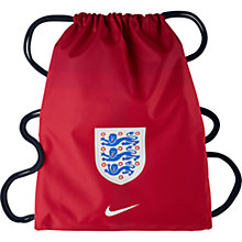 Buy Nike England Allegiance 2.0 Draw String Bag, Red Online at johnlewis.com