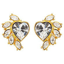 Buy Susan Caplan Vintage 1980s Monet Embellished Swarovski Crystal Heart Clip-On Earrings Online at johnlewis.com