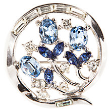 Buy Susan Caplan Vintage 1950s Trifari Floral Swarovski Crystal Brooch, Blue Online at johnlewis.com