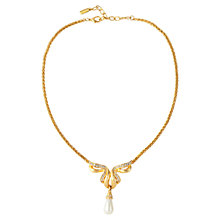 Buy Susan Caplan Vintage 1960s Vendome Faux Pearl Drop Pendant, Gold Online at johnlewis.com