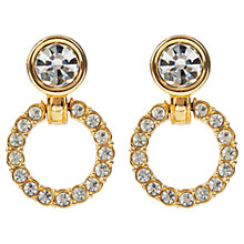 Buy Susan Caplan Vintage 1990s Swarovski Crystal Hoop Drop Earrings, Gold Online at johnlewis.com