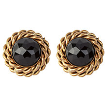 Buy Susan Caplan Vintage 1980s Butler & Wilson Faceted Jet Round Clip-On Earrings, Black Online at johnlewis.com