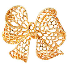 Buy Susan Caplan Vintage 1980s Napier Filigree Bow Brooch, Gold Online at johnlewis.com