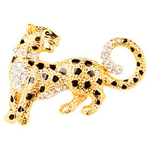 Buy Susan Caplan Vintage 1960s Attwood & Sawyer Cheetah Swarovski Crystal Enamel Brooch, Gold / Black Online at johnlewis.com