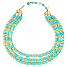Buy Susan Caplan Vintage 1960s Trifari Faux Turquoise Beaded Necklace Online at johnlewis.com