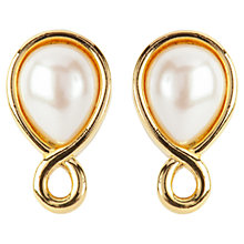 Buy Susan Caplan Vintage 1980s Marvella Faux Pearl Clip-On Earrings, Gold Online at johnlewis.com