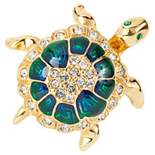 Buy Susan Caplan Vintage 1960s Atwood & Sawyer Tortoise Swarovski Crystal Brooch, Green / Blue Online at johnlewis.com