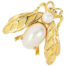 Buy Susan Caplan Vintage 1970s Trifari Faux Pearl Insect Brooch, Gold Online at johnlewis.com