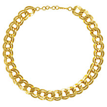 Buy Eclectica 1980s Monet Gold Plated Double Link Statement Necklace Online at johnlewis.com