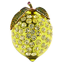 Buy Eclectica 1960s Lucite and Glass Lemon Brooch, Yellow Online at johnlewis.com