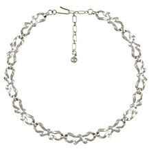 Buy Eclectica 1950s Trifari Chrome Bow Necklace Online at johnlewis.com