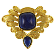 Buy Eclectica 1980s Trifari Gold Plated Cabochon Brooch, Gold / Blue Online at johnlewis.com