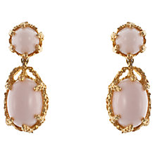 Buy Eclectica 1960s Panetta Gold Plated Clip-On Earrings, Pink Online at johnlewis.com