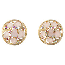 Buy Eclectica 1980s Trifari Gold Plated Clip-On Earrings, Pink Online at johnlewis.com