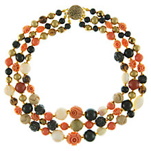 Buy Eclectica 1980s Vintage Beads Necklace, Coral Online at johnlewis.com