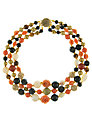 Eclectica 1980s Vintage Beads Necklace, Coral