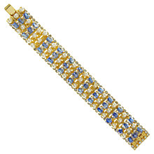 Buy Eclectica 1950s Hobe Gold Plated Bead Bracelet, Gold / Blue Online at johnlewis.com
