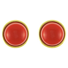 Buy Eclectica 1960s Napier Gold Plated Clip-On Earrings, Red Online at johnlewis.com