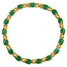 Buy Eclectica 1950s Trifari Opaque Cabochon Link Necklace, Green Online at johnlewis.com