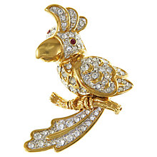 Buy Eclectica 1980s Attwood & Sawyer Gold Plated Bird Brooch, Gold / Silver Online at johnlewis.com