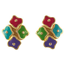 Buy Eclectica 1980s Coloured Enamel Clip-On Earrings Online at johnlewis.com