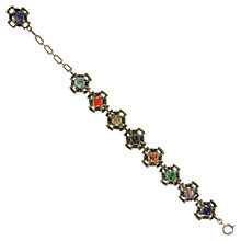 Buy Eclectica 1960s Miracle Faux Agate Slim Linked Bracelet, Multi Online at johnlewis.com