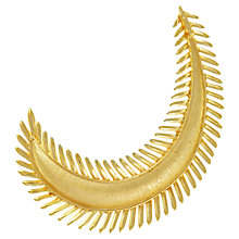 Buy Eclectica 1950s Trifari Feathered Crescent Brooch, Gold Online at johnlewis.com