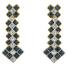 Buy Eclectica 1980s Atwood & Sawyer Glass Drop Earrings, Navy Online at johnlewis.com