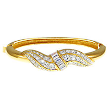 Buy Eclectica 1980s Attwood & Sawyer Gold Plated Crystal Bangle Online at johnlewis.com