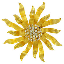 Buy Eclectica 1960s Gold Plated Sunburst Crystal Brooch Online at johnlewis.com