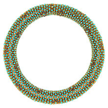 Buy Eclectica 1960s Ciner Articulated Bead Statement Necklace, Turquoise Online at johnlewis.com