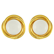 Buy Eclectica Vintage 1960s Trifari Resin Button Earrings, White Online at johnlewis.com