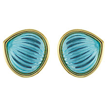 Buy Eclectica 1980s Grosse Melon Cut Glass Clip-On Earrings, Blue Online at johnlewis.com