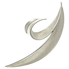 Buy Eclectica 1950s Trifari Abstract Brooch, Rhodium Online at johnlewis.com