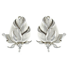 Buy Eclectica 1950s Trifari Rosebud Clip-On Earrings, Chrome Online at johnlewis.com