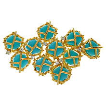Buy Eclectica 1970s Panetta Gold Plated Brooch, Turquoise Online at johnlewis.com