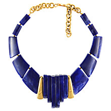 Buy Eclectica 1980s Gold Plated Chunky Statment Necklace, Blue Online at johnlewis.com