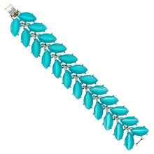 Buy Eclectica 1950s Kramer Chrome Plated Bracelet, Turquoise Online at johnlewis.com