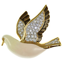 Buy Eclectica 1980s Attwood & Sawyer Enamel Bird Brooch Online at johnlewis.com