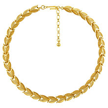 Buy Eclectica 1950s Trifari Leaf Link Necklace, Gold Online at johnlewis.com