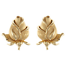 Buy Eclectica 1950s Trifari Rosebud Clip-On Earrings, Gold Online at johnlewis.com