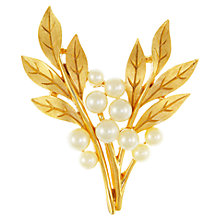 Buy Eclectica 1980s Trifari Gold Plated Faux Pearls Spray Brooch Online at johnlewis.com