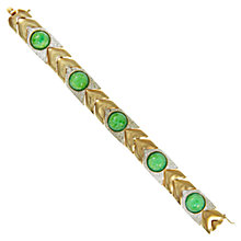 Buy Eclectica 1960s Panetta Gold Plated Cabochon Bracelet, Green Online at johnlewis.com