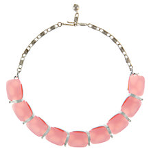 Buy Eclectica 1950s Lisner Chrome Plated Thermoplastic Statement Necklace, Pink Online at johnlewis.com