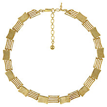 Buy Eclectica 1960s Trifari Contrast Link Necklace, Gold Online at johnlewis.com